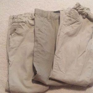 3 cat& Jack school uniform pants kaki size 10 girl